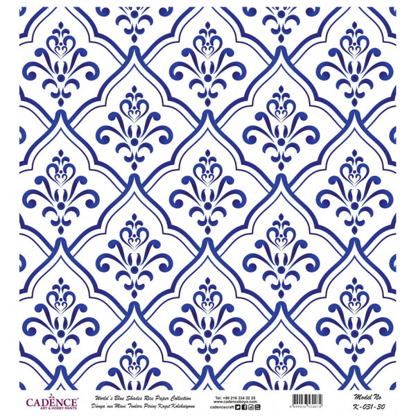 K031 World's Blue Shades Rice Paper