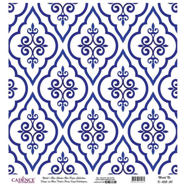 K032 World's Blue Shades Rice Paper