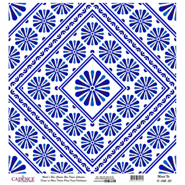 K042 World's Blue Shades Rice Paper