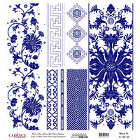 K051 World's Blue Shades Rice Paper