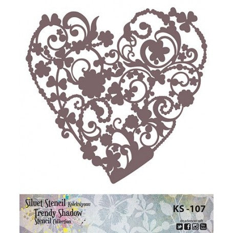 TRENDY SHADOW Stencil - KS-107