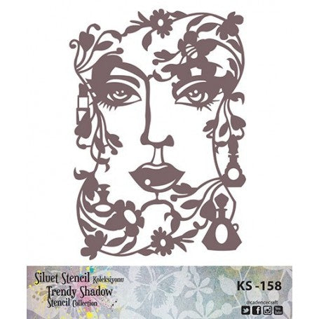 TRENDY SHADOW Stencil - KS-158