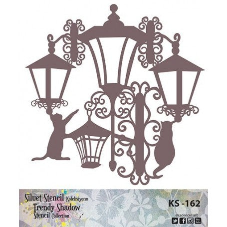TRENDY SHADOW Stencil - KS-162