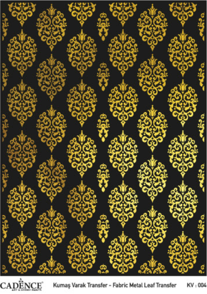 Metal Leaf Fabric Transfer - KV Gold