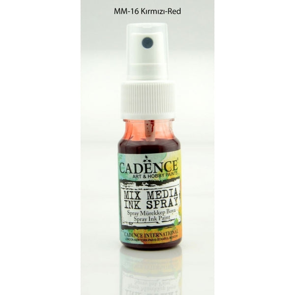 Mix Media Ink Spray Paint -Red - 25 ML