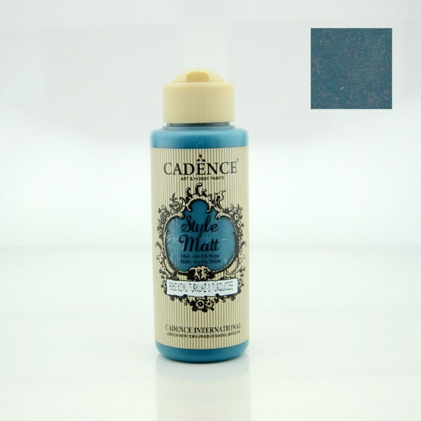 Style Matt Acrylic Paint - Dark turquoise- 120 ML