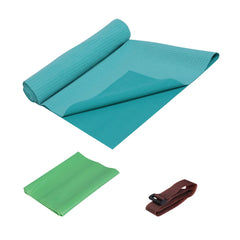 FrenzyBird 1mm Travel Yoga Mat/Towel with Mat Bind and Elastic String - Blue