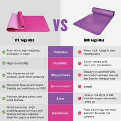 FrenzyBird TPE Yoga Mat - Rosered/Lightpink