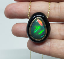Load image into Gallery viewer, Black Onyx & Opal Pendant