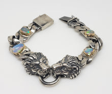 Load image into Gallery viewer, Silver Lion Head Bracelet