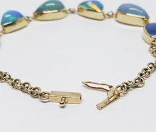 Load image into Gallery viewer, Colorful 6 Opals 14k Gold  Bracelet