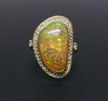 Load image into Gallery viewer, Opal & Diamond Ring 14k Gold