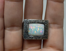 Load image into Gallery viewer, White Opal Sterling Silver Ring