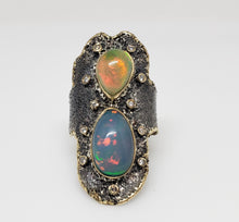 Load image into Gallery viewer, Opal Diamond Silver Ring