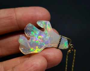 Carved Opal Pendant