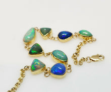 Load image into Gallery viewer, Opal Link Bracelet 14k Gold #104