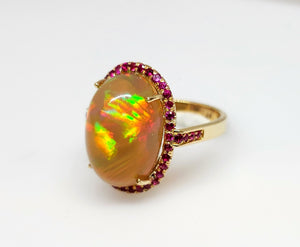 Opal Ruby Gold Ring