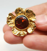 Load image into Gallery viewer, Opal Flower Ring Solid 14k Gold #116