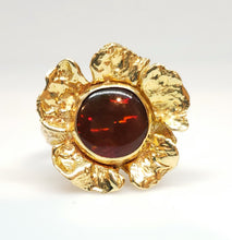 Load image into Gallery viewer, Gold Flower Opal Ring