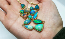 Load image into Gallery viewer, Ethiopian Opal Gemstone Necklace 14k Gold #126
