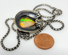 Load image into Gallery viewer, Opal Medallion Pendant Sterling Silver #122