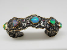 Load image into Gallery viewer, Opal Silver Cuff Bracelet
