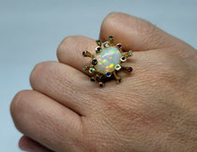 Load image into Gallery viewer, Opal Gemstones Ring 14k Gold #125
