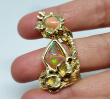 Load image into Gallery viewer, Opal Ring 14 Karat Gold  Statement Jewelry #134