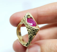 Load image into Gallery viewer, Ruby Ring 14 Karat Gold Jewelry #135