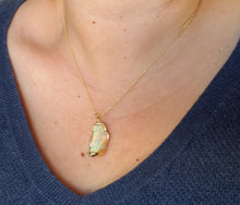 Load image into Gallery viewer, Carved Opal Pendant 14k Gold #137