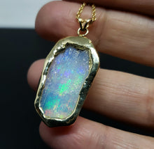 Load image into Gallery viewer, Carved Opal Pendant 14k Gold #139