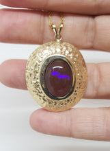 Load image into Gallery viewer, Natural Brown Opal Pendant 14k Yellow Gold Chain Necklace #149