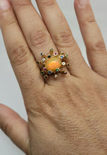 Load image into Gallery viewer, Opal  & Color Gemstones 14k Gold Ring #161