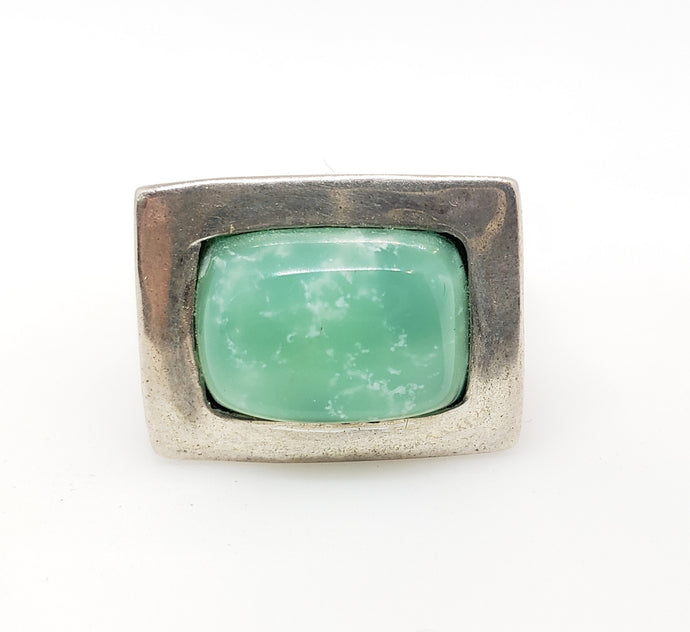 Chrysoprase Ring - Sterling Silver #161