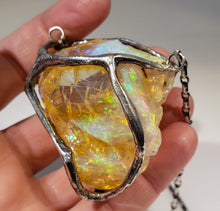 Load image into Gallery viewer, Yellow Opal Specimen Pendant Sterling Silver #168
