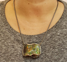 Load image into Gallery viewer, Carved Opal Specimen Pendant Sterling Silver #170
