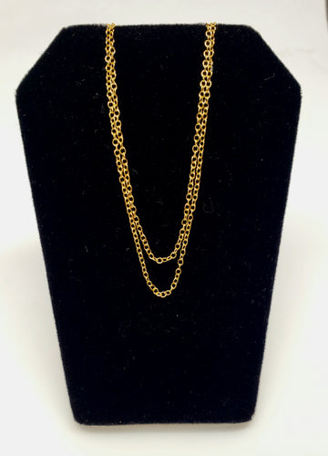 24k Gold Plated Chain - 18 inch necklace - Joy#197