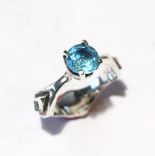 Load image into Gallery viewer, Blue Topaz Ring - Sterling Silver #1358