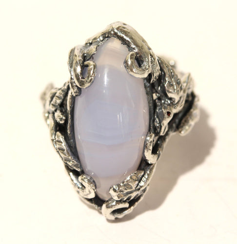 Chalcedony Ring - Sterling Silver #1439