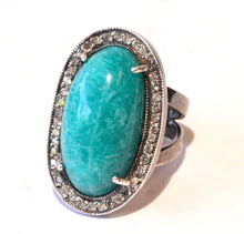 Load image into Gallery viewer, Natural Amazonite Ring #1405