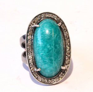 Natural Amazonite Ring #1405