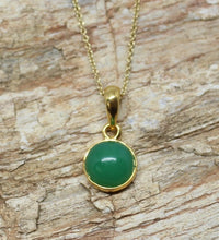Load image into Gallery viewer, Gold Chrysoprase Pendant