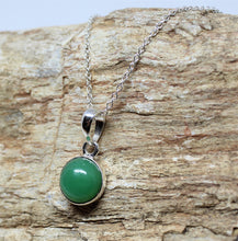 Load image into Gallery viewer, Chrysoprase 10mm Pendant- Sterling Silver - Joy#203