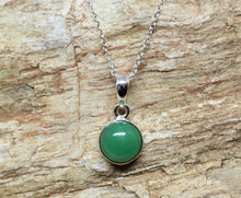 Load image into Gallery viewer, Chrysoprase Silver Pendant