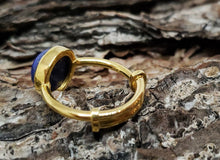 Load image into Gallery viewer, Blue Lapis Lazuli Ring - 24k Gold Plated - Adjustable Size  - Joy#174