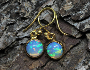 Opal Gold Earrings
