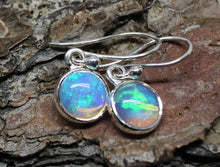 Load image into Gallery viewer, Opal Round Dangle Earrings- Sterling Silver - Joy#201
