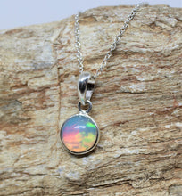 Load image into Gallery viewer, Colorful Opal Pendant- Sterling Silver - Joy#207