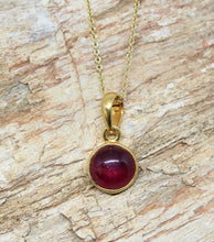 Load image into Gallery viewer, Ruby gold Pendant