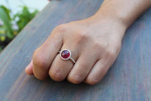 Load image into Gallery viewer, Red Ruby Ring - Sterling Silver - Adjustable Size  - Joy#179